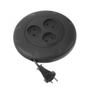 Удлинитель Smartbuy, 3 розетки, 3 м, 10 А, 2200 Вт, без заземления, круглый, черный 4873643