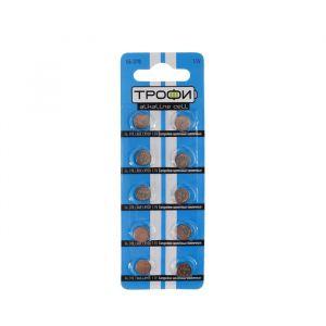 "Батарейка алкалиновая ""Трофи"" Alkaline Cell, G6 (370, LR920, LR69)-10BL, 1.5В, блистер,10 шт. 824117"