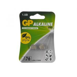 Батарейка алкалиновая GP, LR44 (G13, V13GA, A76)-2BL, 1.5В, блистер, 2 шт. 4857395