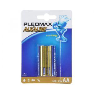 Батарейка алкалиновая Pleomax, AA, LR6-2BL, 1.5В, блистер, 2 шт. 824031