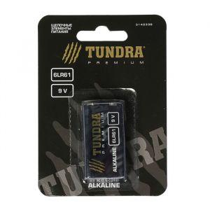 Батарейка алкалиновая TUNDRA, 6LR61, 9V, блистер, 1 шт 3142338