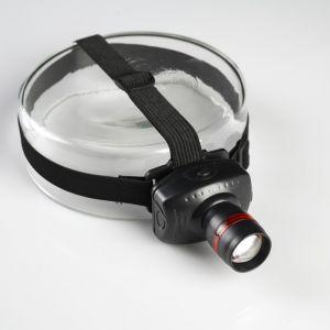 """Фонарик налобный """"Дозор"""", 1 LED, чёрный, на рассеивателе красное кольцо, 3 ААА, 7х6х4 см 555029"""