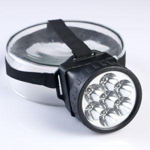 "Фонарик налобный ""Ночь"", 7 LED, 1 режим, 3 АА, 7.5х6.3 см 1268445"
