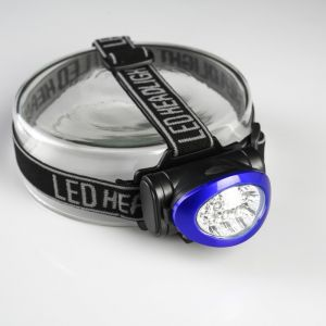 Фонарик налобный HG-HL016, 10 LED, 3 ААА, синий кант, 6х7х5 см 960871