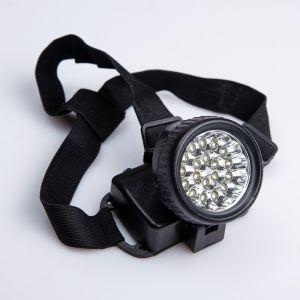 Фонарик налобный с лентой, 19 LED, микс  2376636