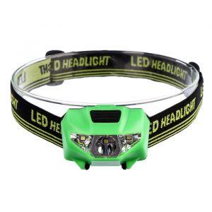 Фонарик налобный, 3 LED, 2 типа освещения, 3 режима, 3 ААА, микс, 4.5х6 см 981917