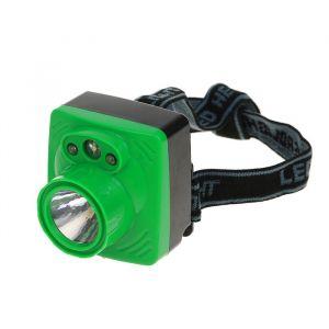 Фонарик налобный, 4 LED, 3 АА, микс, 6х6.5х6 см 2310885