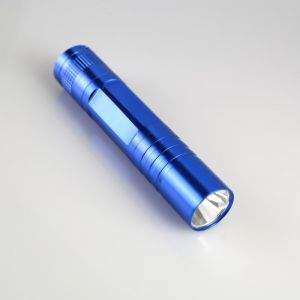 """Фонарик ручной """"Прожектор"""", с выемкой на корпусе, 1 LED, 1 АА, микс, 9.5х2 см 554990"""