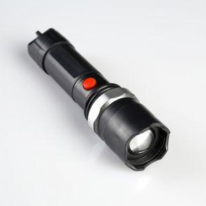 """Фонарик ручной """"Экспедиция"""", 1 LED, 3 ААА, серое кольцо на подвеске, чёрный, 17.5х3.5 см 159215"""