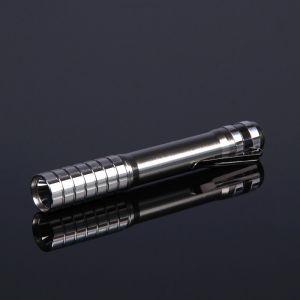 Фонарик ручной, 1 LED, на рассеивателе грани, хром, 2 АА, 14.5 см 1527951