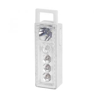"""Фонарь переносной """"Приёмник"""", 2 типа освещения, 5 LED, белый, 3 ААА, 10 см 668222"""