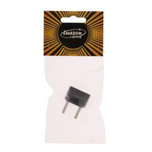 Переходник Luazon Lighting, 6 А, евро, круглый, 220 В, черный, 1 шт.   4410517