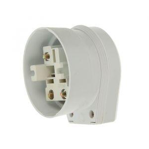 Разъем для плиты Smartbuy РШ-ВШ, 2P+PE, ОУ, 32 А, 250 В, пластик, белый 2174347