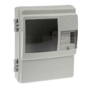 Щит учета для частного дома TDM КВУ-1/3-4, 4 модуля, IP54, для однофазного счетчика, пластик 4214430