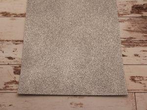 """`Фоамиран """"глиттерный"""" Китай, толщина 2 мм, размер 20x30 см, цвет серебро"""