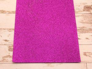 """Фоамиран """"глиттерный"""" Китай, толщина 2 мм, размер 20x30 см, цвет № Ф006 фиолетовый (1 уп = 10 листов)"""