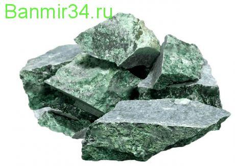Камень д/ сауны Нефрит колото-пиленый 10кг ведро  Огненный камень