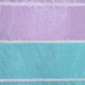 """Тюль """"Этель"""" 145х280 Гамма голубой (горизонтальная полоса) б/утяжелителя, 100% п/э"""