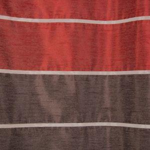 """Тюль """"Этель"""" 145х280 Гамма красный (горизонтальная полоса) б/утяжелителя, 100% п/э"""