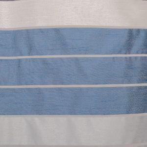 """Тюль """"Этель"""" 145х280 Гамма синий (горизонтальная полоса) б/утяжелителя, 100% п/э"""