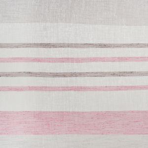 Штора портьерная «Этель» 135?260 см, Меланж розовый (горизонтальная полоса) б/утяжелителя