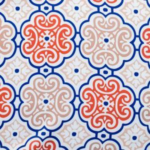 """Штора портьерная """"Этель"""" Дамаск цвет синий 130х250 см, блэкаут, 100% п/э"""