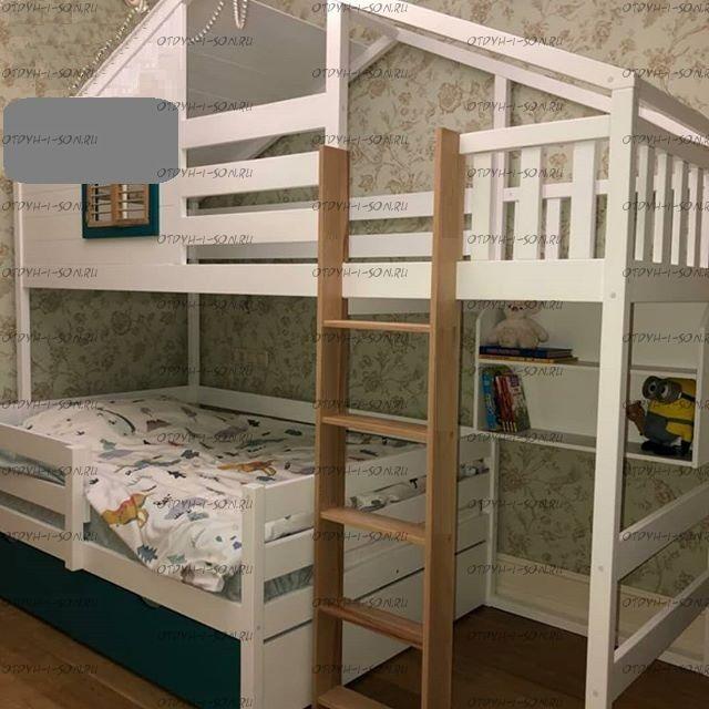 Кровать-чердак Домик Fairy Land Roof (любые размеры)