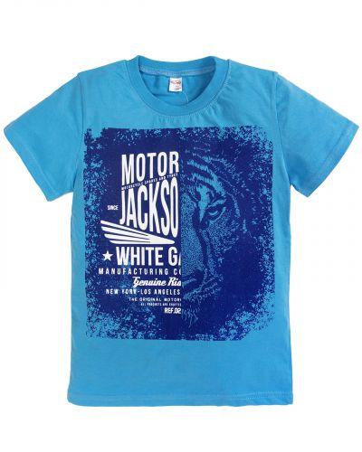 """Футболка для мальчиков 8-12 лет Bonito """"Motor Jackso"""" голубая"""