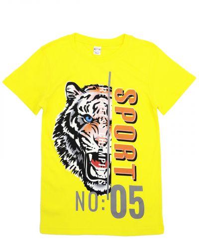 """Футболка для мальчиков 8-12 лет Bonito """"Tiger"""" желтая"""