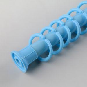 Карниз для ванной комнаты раздвижной 210 см, цвет голубой   4781093