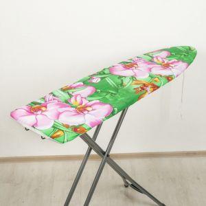 Чехол для гладильной доски 129?40 см, хлопок, рисунок МИКС