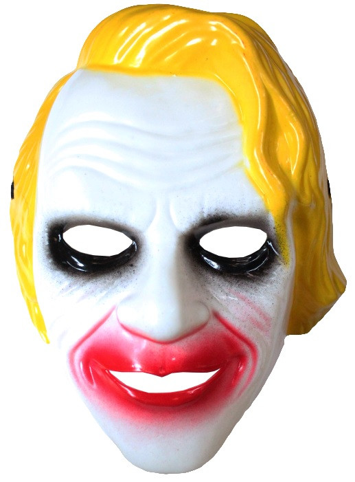 Маска Джокера с желтыми волосами