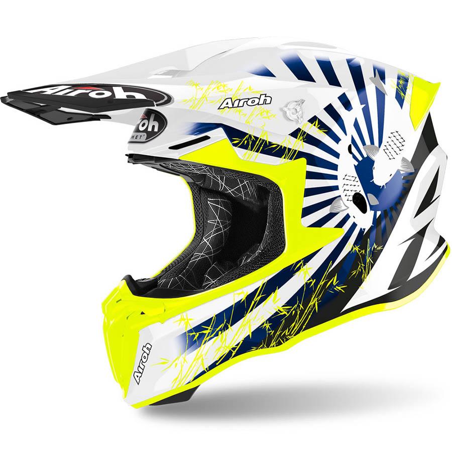 Airoh Twist 2.0 Katana Blue Gloss шлем внедорожный