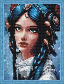 Алмазная мозаика «Принцесса планеты Уран» 50x65 см