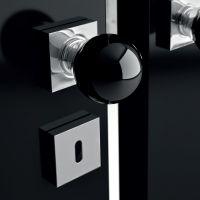 Комплект кноб Glass Design Sfera. хром полированный/черный опал