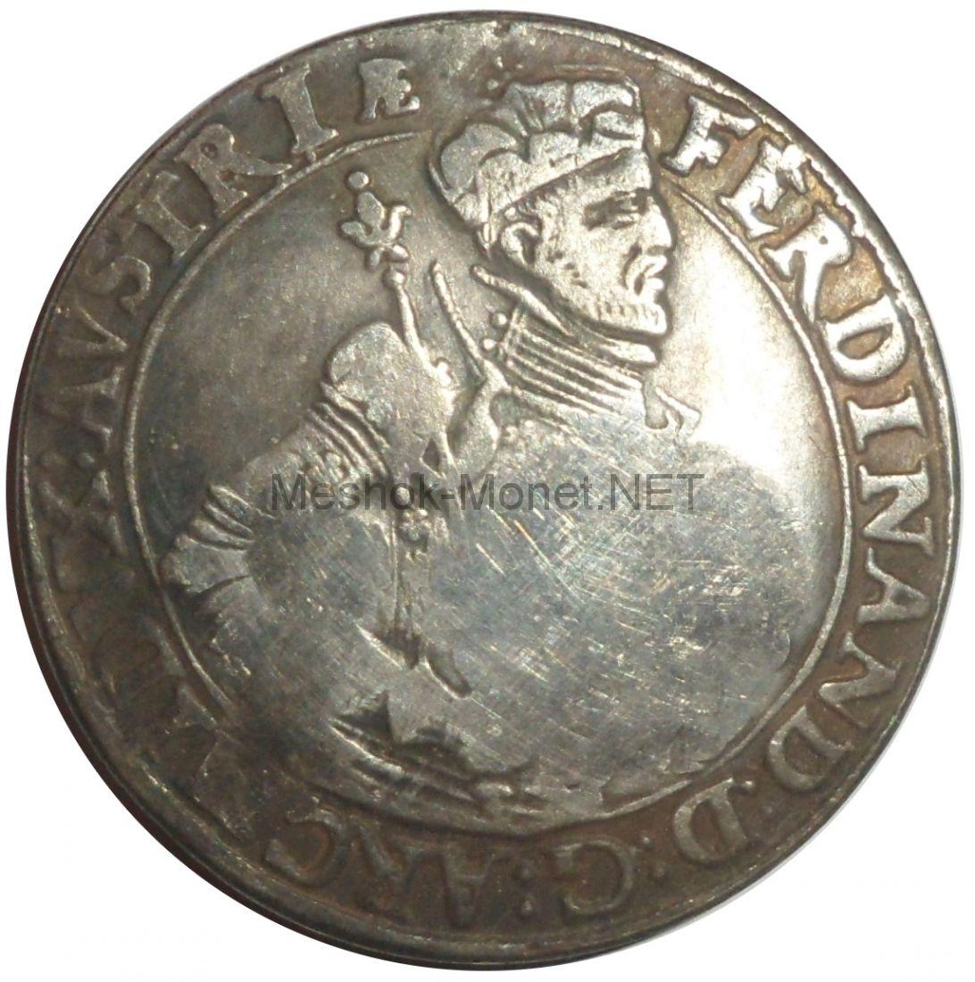 Копия монеты Ефимок с признаком 1655 год надчекан на талере Фердинанда