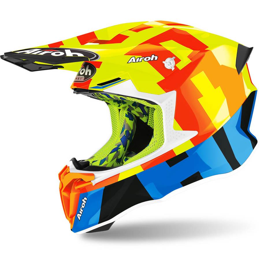 Airoh Twist 2.0 Frame Yellow Gloss шлем внедорожный