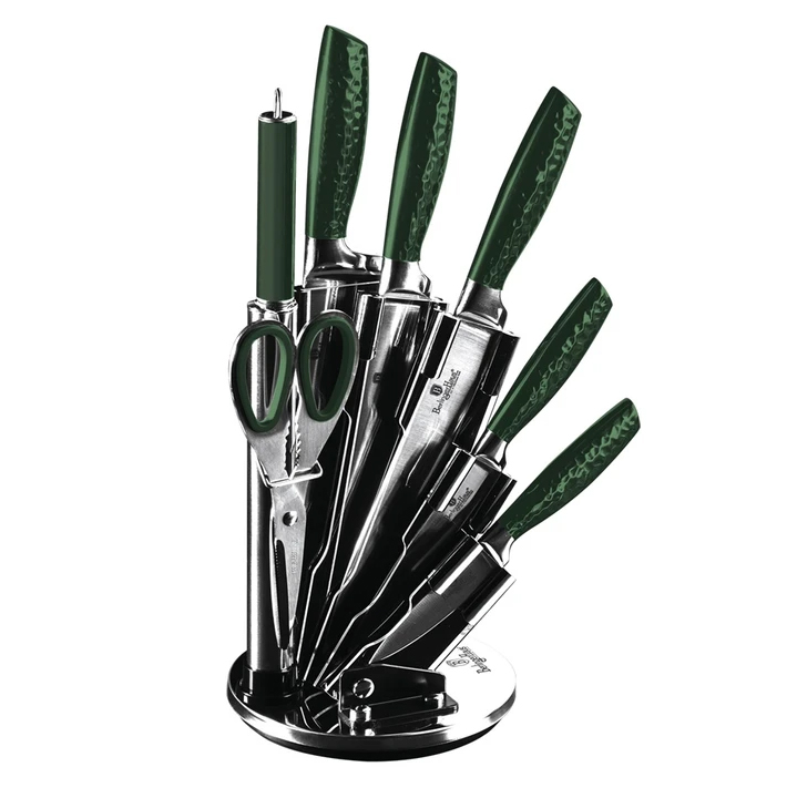 Набор ножей на подставке 8 предметов Berlinger Haus Emerald Collection BH-2463