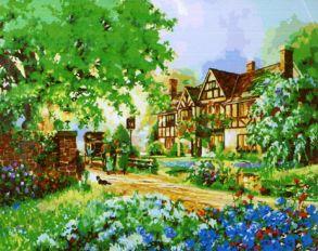 Картина по номерам «В зелени» 50x65 см