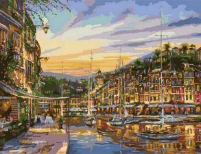 Картина по номерам «Сказочный вечер» 50x65 см
