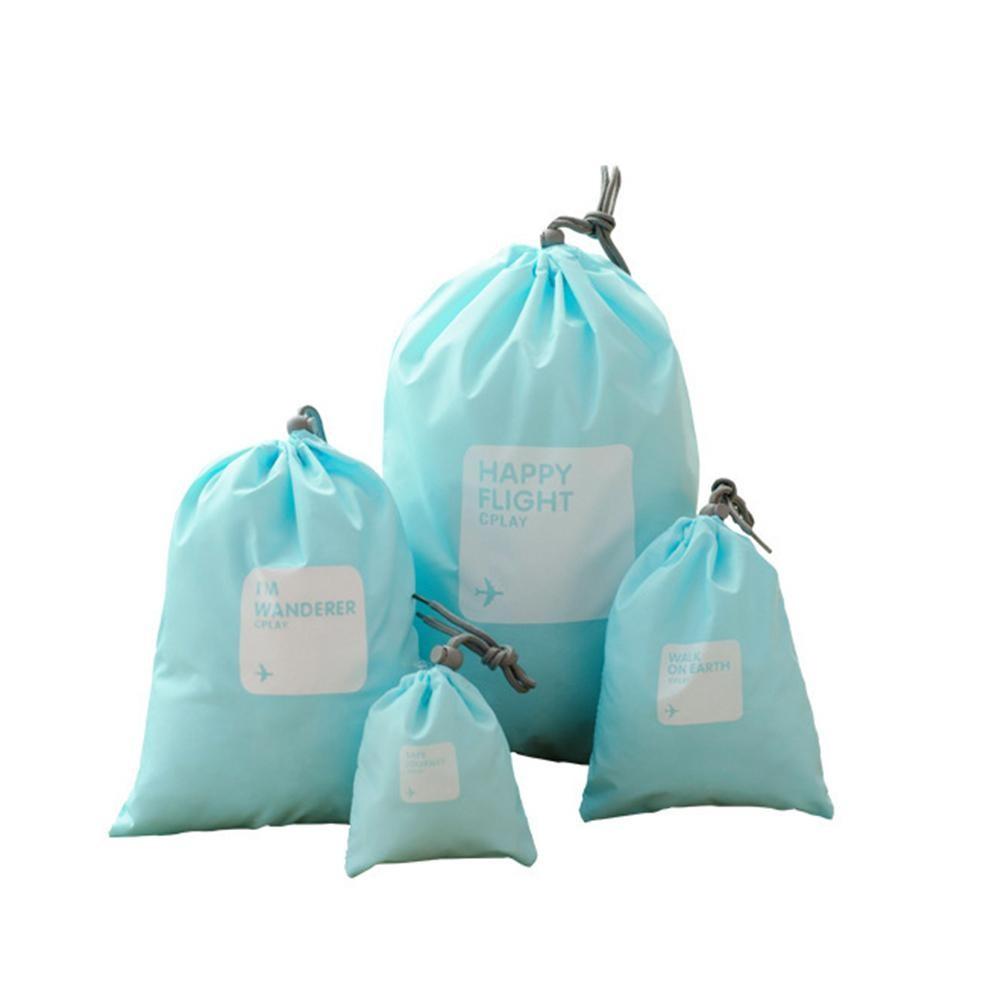 Водонепроницаемые мешочки для одежды Happy Flight Cplay, 4 шт. Цвет  Голубой