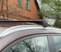 Багажник на крышу BMW X3 (G01) 2018-..., Lux Bridge, крыловидные дуги (черный цвет)