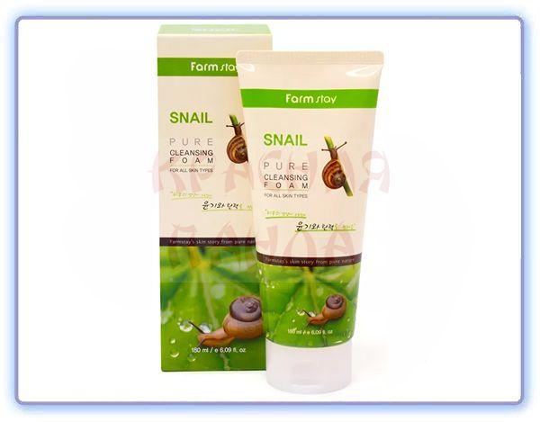 Пенка для умывания с улиточным муцином FarmStay Snail Pure Cleansing Foam
