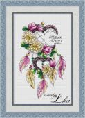 """""""One dream for two"""". Digital cross stitch pattern."""