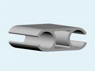 Алюминиевый каркасный профиль двойной 44 мм (ликпаз) 1 метр