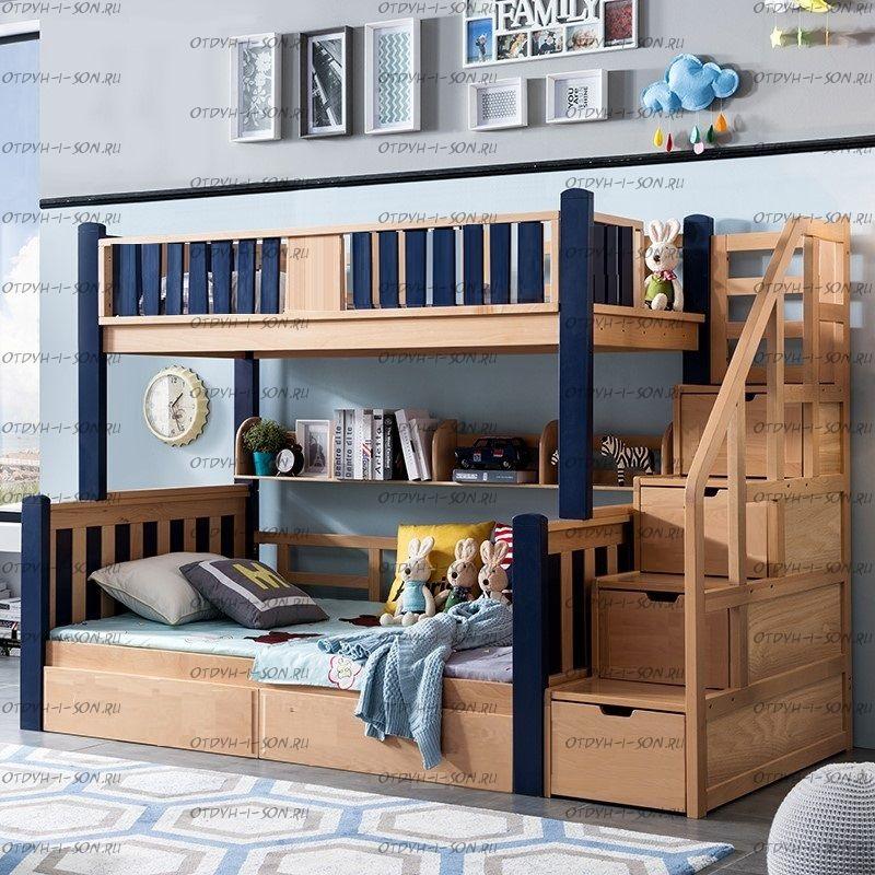Кровать двухъярусная Домик №IR
