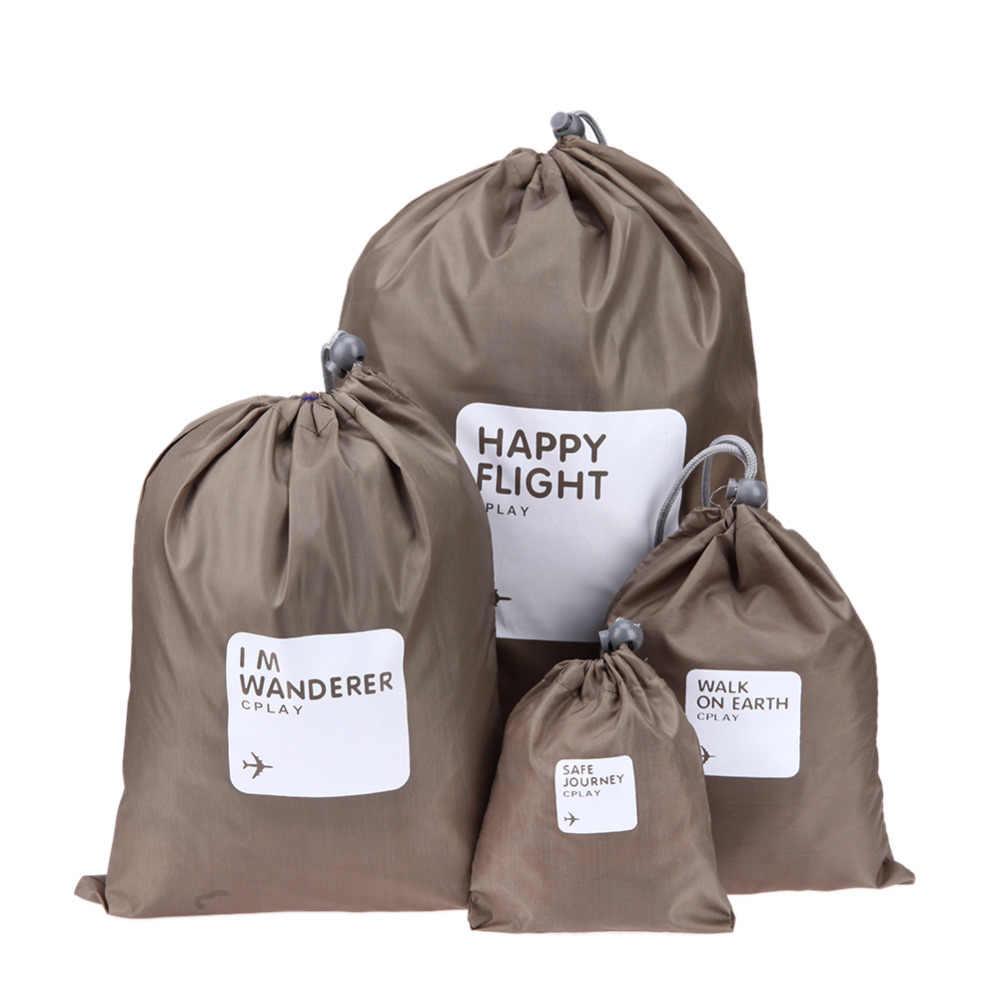 Водонепроницаемые мешочки для одежды Happy Flight Cplay, 4 шт. Цвет Коричневый