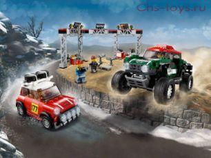 Конструктор Lari Speeds Champion Автомобили 1967 Mini Cooper S Rally и 2018 MINI John Cooper Works Buggy 11257 (75894) 505 дет