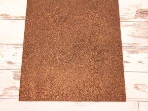 """Фоамиран """"глиттерный"""" Китай, толщина 2 мм, размер 20x30 см, цвет № Ф004 коричневый (1 уп = 10 листов)"""
