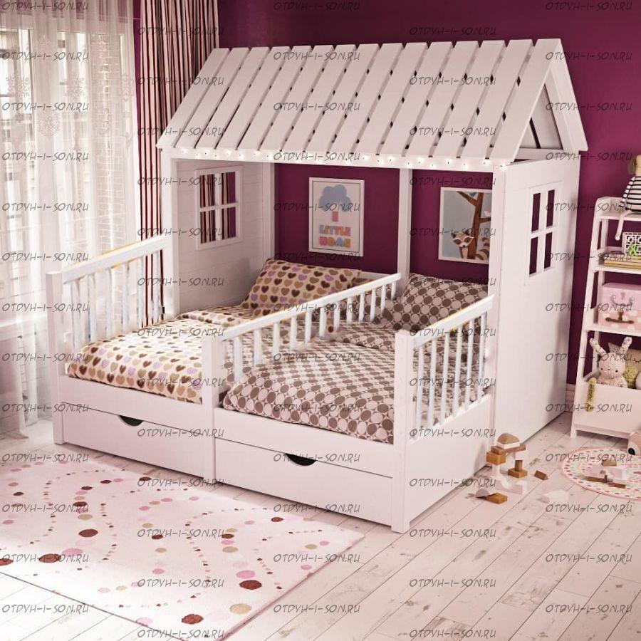 Кровать Домик угловой Butterfly №11А (для двоих детей)